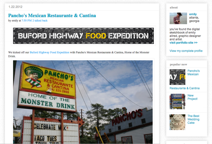 First Buford Highway (BuHi) post: Pancho's