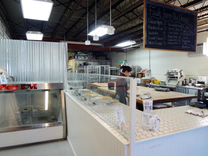 Pie Shop interior space