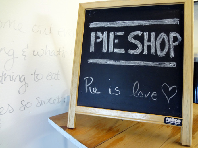 Pie Shop interior decor