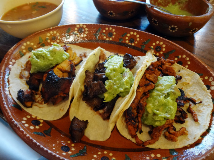 Three taco lunch special at La Costilla Grill on Buford Highway