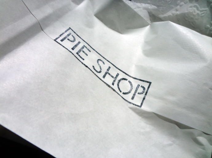 To-go packaging from the Pie Shop
