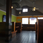 Blurry interior shot of J Buffalo Wings