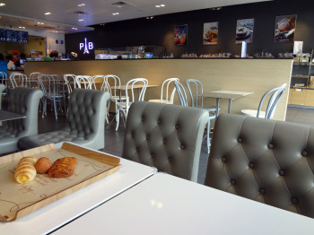 Interior view of Paris Baguette Cafe