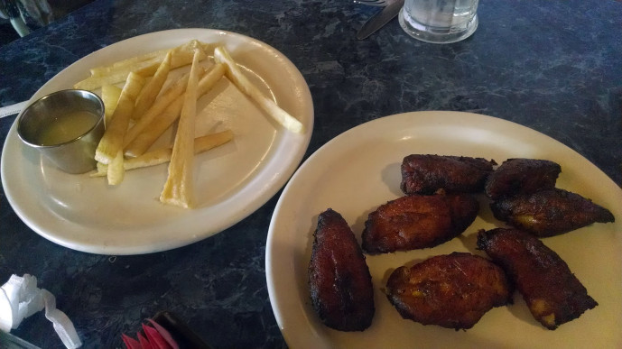 Yuca fries and maduros from Little Cuba