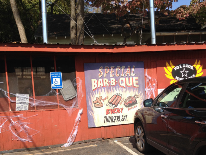 Fox Bros BBQ in Candler Park near Little Five Points