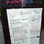 Bento Bus menu board