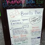 Bento Bus menu board