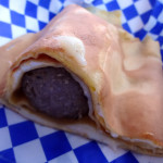 Sausage crepe from the Crepe Suzette Food Truck