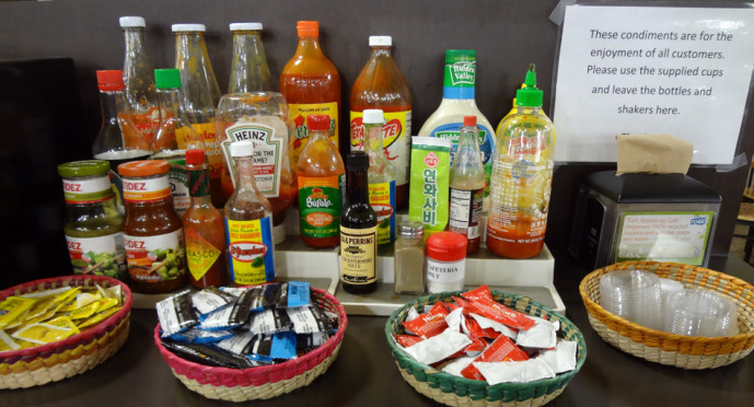 Buford Highway Farmer's Market Cafeteria's condiments