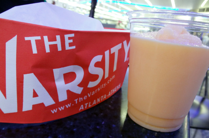 The Varsity frosted orange