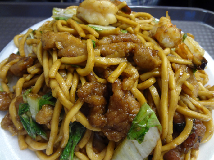 House special Lo Mein from  Jeanne's House Fast Food Cafe