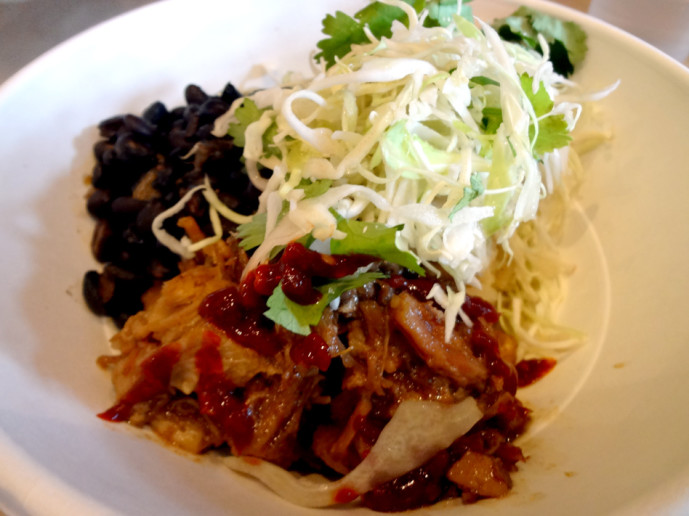 Abodo roasted pork rice bowl from Big Sky Buckhead