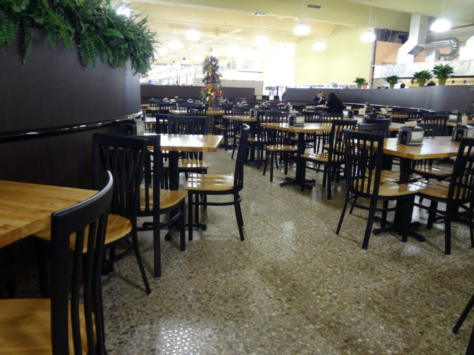 Buford highway Farmers Market FOod Court seating area