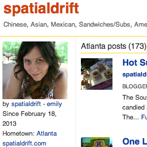 Spatialdrift on Urbanspoon - profile