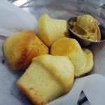Cornbread muffins with sorghum sea salt butter