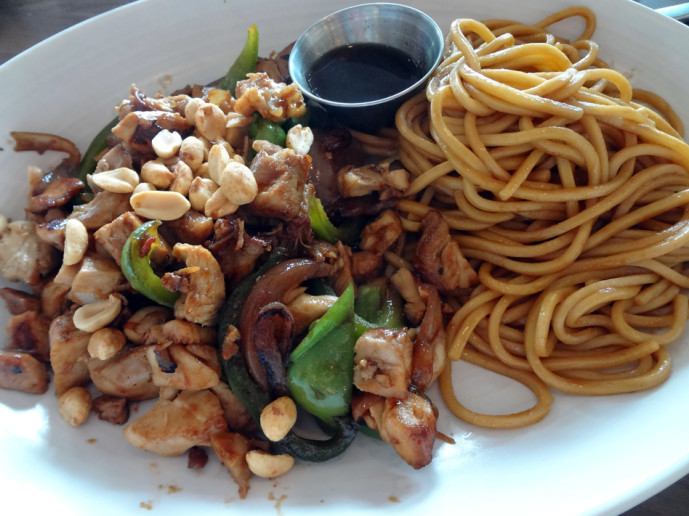Kung Pao Chicken with Lo Mein
