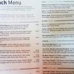 Muss & Turner menu