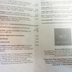 Muss & Turner menu continued