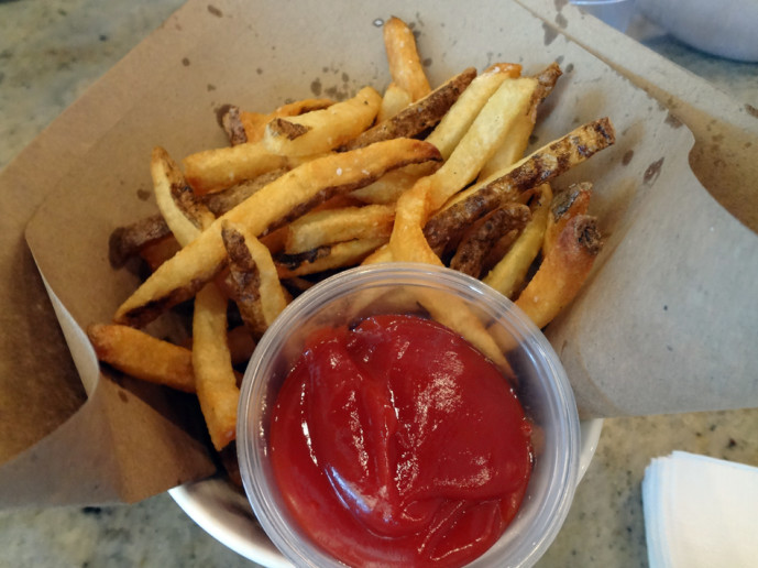 Fries for the table at Muss & Turner's