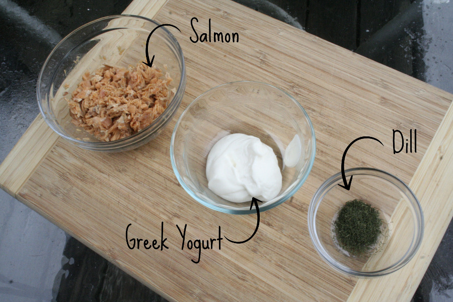 Salmon.  Yogurt.  Dill.