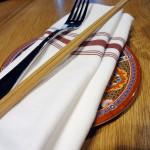 Table setting at Makan