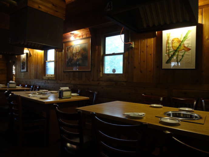 Cho Sun Ok Korean BBQ tables