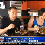 Emily Allred with Paul Milliken on Fox 5 News