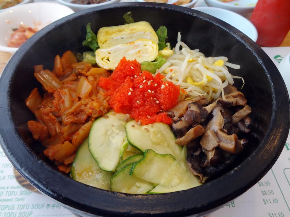 Cho Dang Tofu House stone-pot kimchi bibimbap