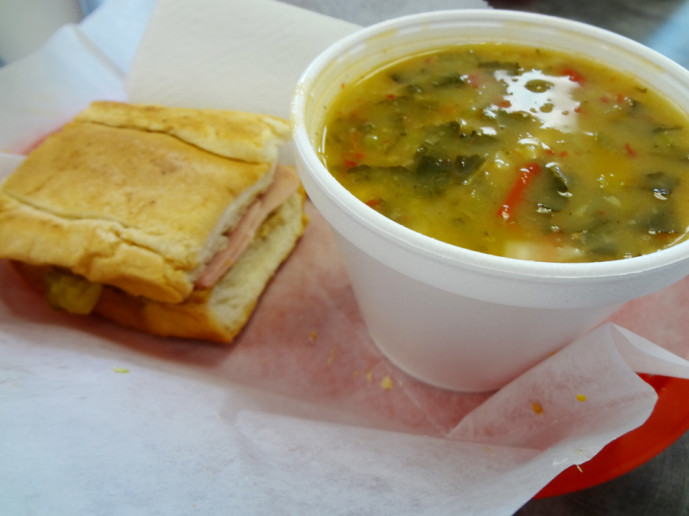 Lunch Special: Half cuban and Galician soup