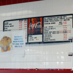 Kool Korner menu board