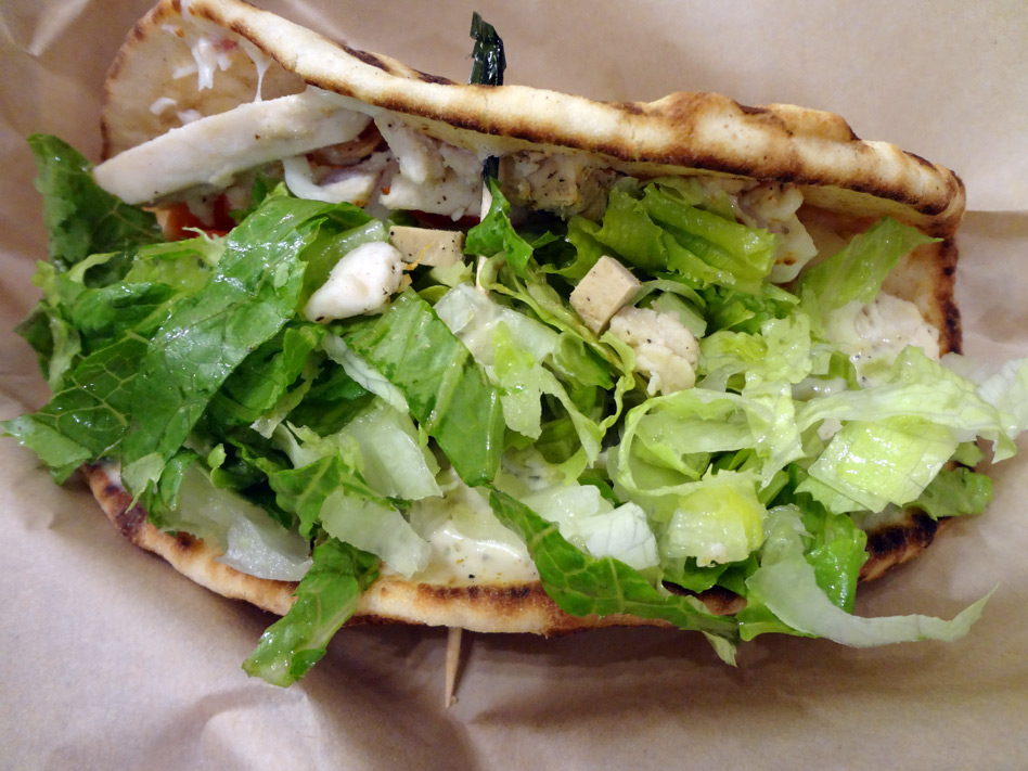 Baja chicken flatbread from Tropical Smoothie Cafe