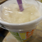 Peanut butter shake from Tropical Smoothie Cafe