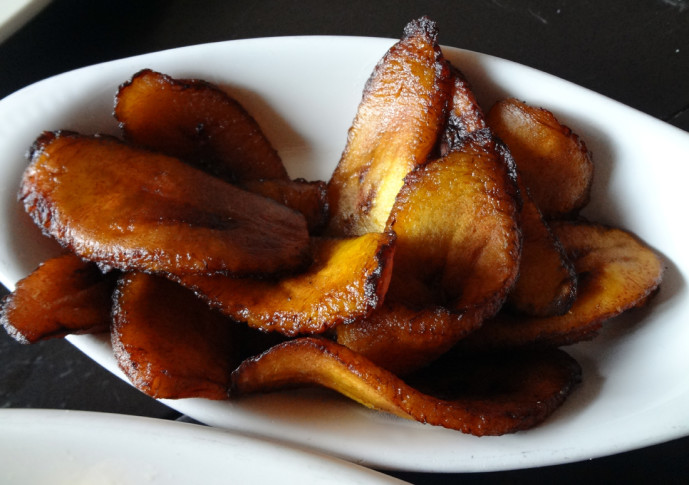 Sweet plantains from the Cena Hondurena