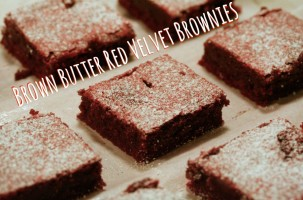 Browned Butter Red Velvet Brownies