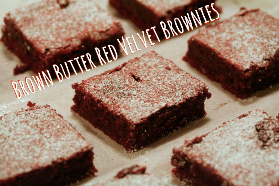 Browned Butter Red Velvet Brownies -spatialdrift