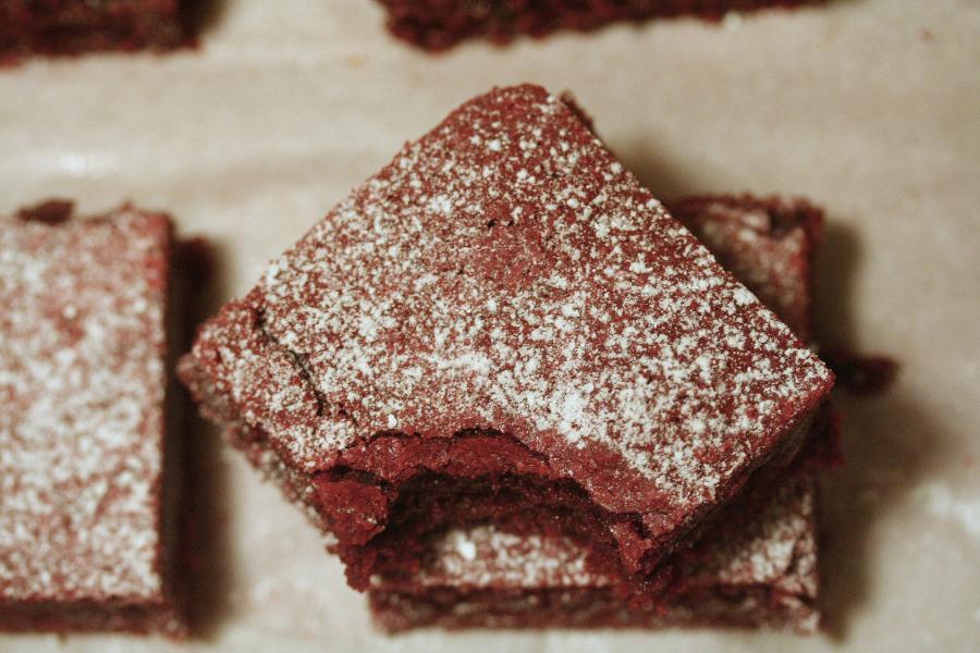 Browned Butter Red Velvet Brownies -spatialdrift