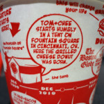 Tom+Chee paper cup