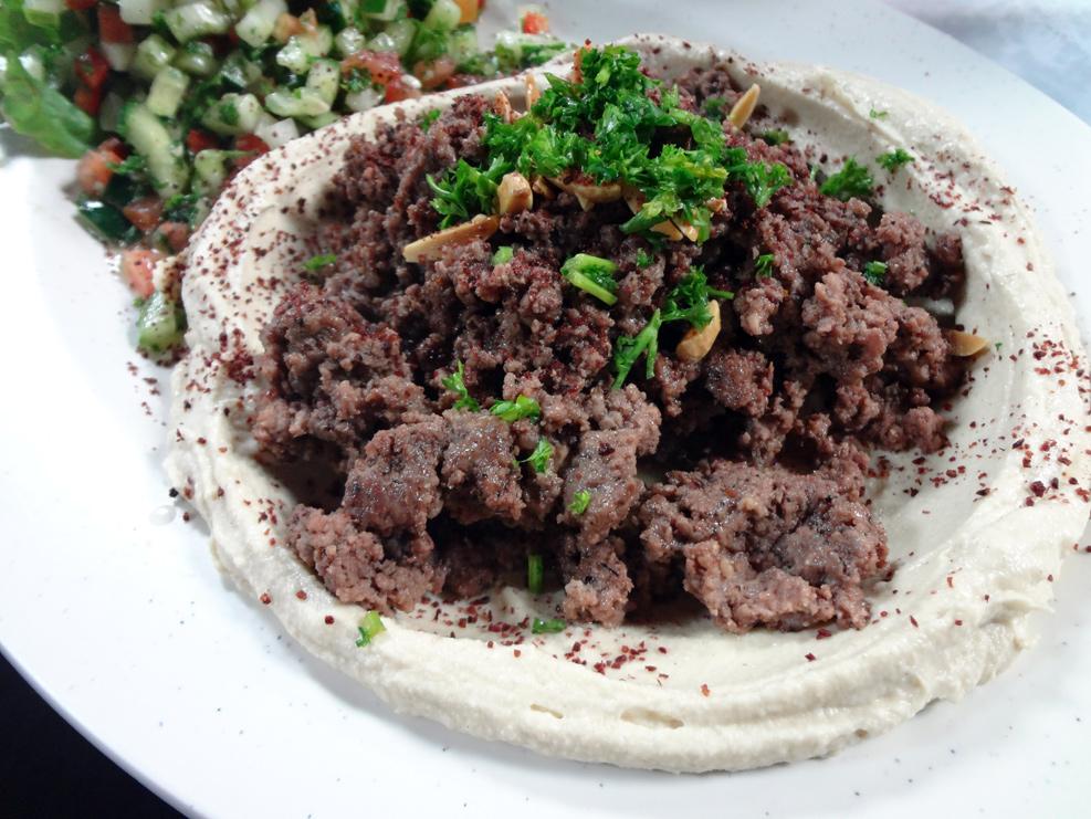 Ameer's Mediterannean Hummus with Lamb
