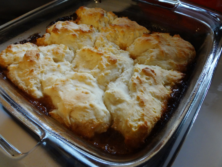Bacon biscuit bake fresh from the oven