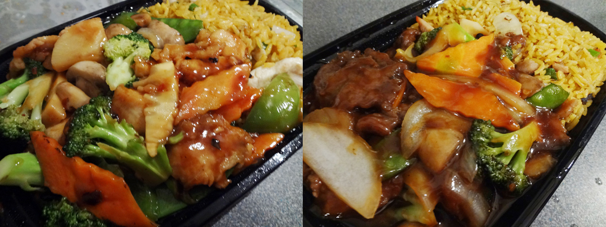 Hong Kong City szechuan beef and  hunan chicken