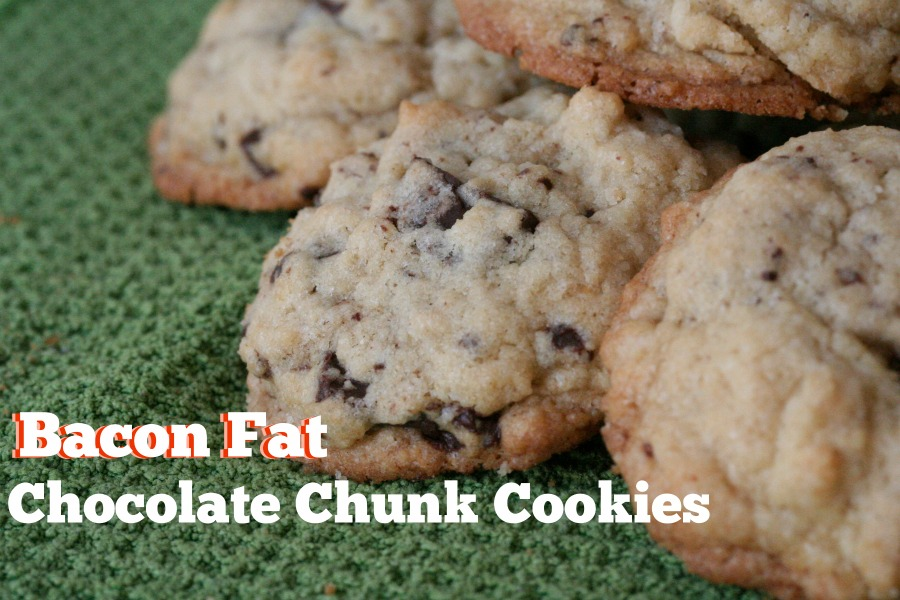 Bacon Fat Chocolate Chunk Cookies