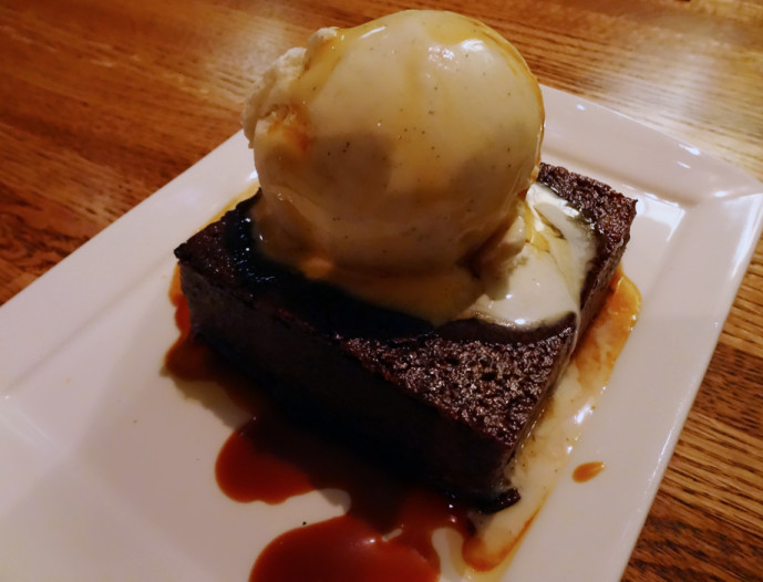 SOHO Classic chocolate bread pudding