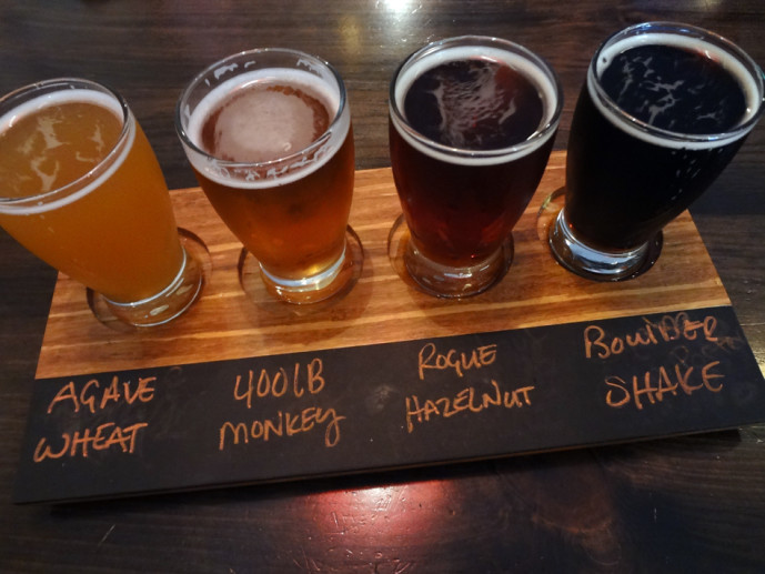 Stockyard beer flight