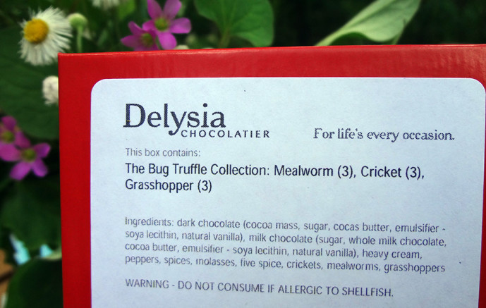 Delysia insect truffle ingredients list
