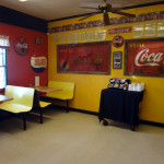 Chicken Comer interior with Subway booths