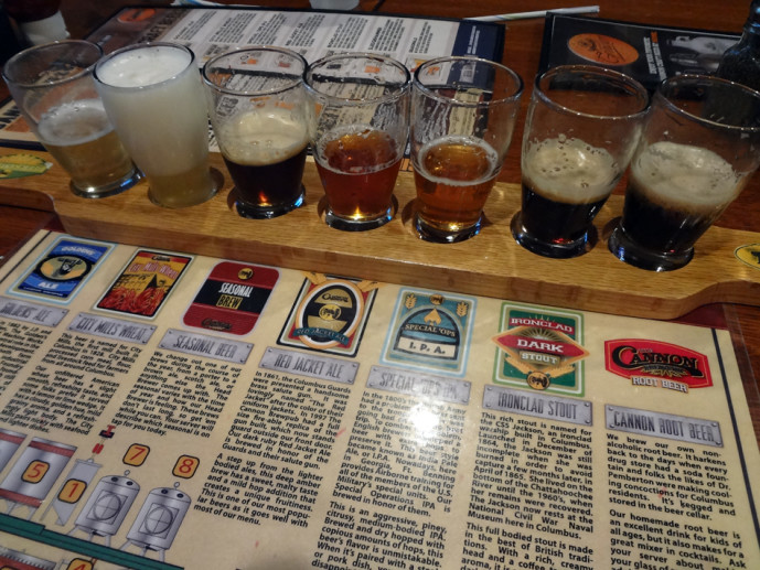 Cannon brewpub draft beers