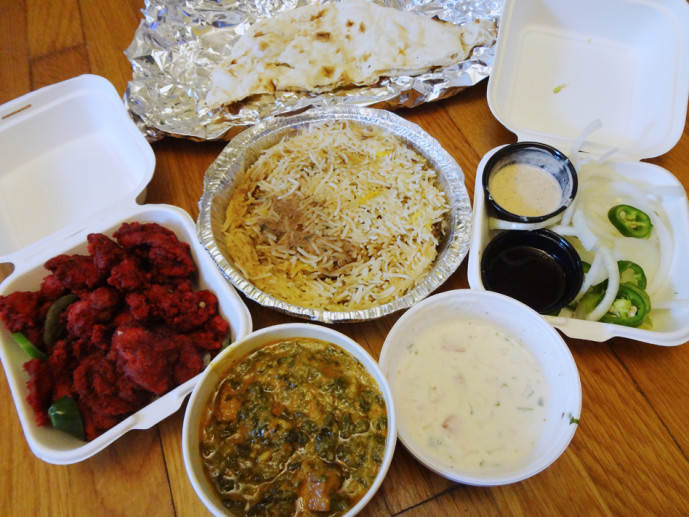The entire takeout haul from Zyka Decatur