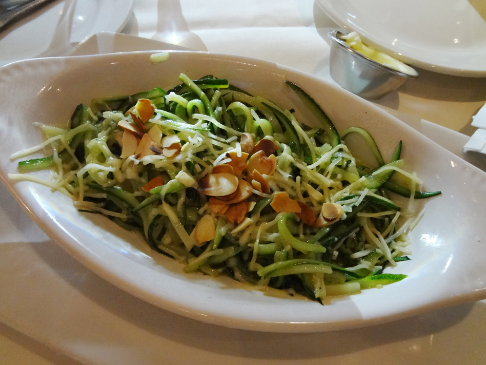 Matchstick zucchini side dish at C&S seafood