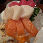 Close-up of sashimi