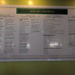 Salad Express menu board